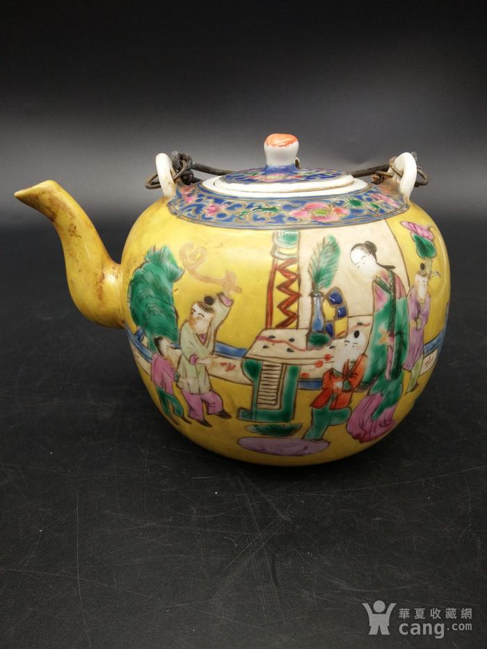 清同治粉彩茶壶图2