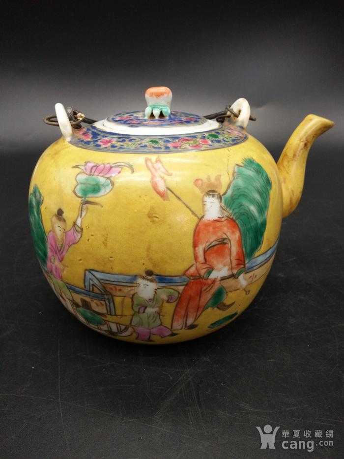 清同治粉彩茶壶图3
