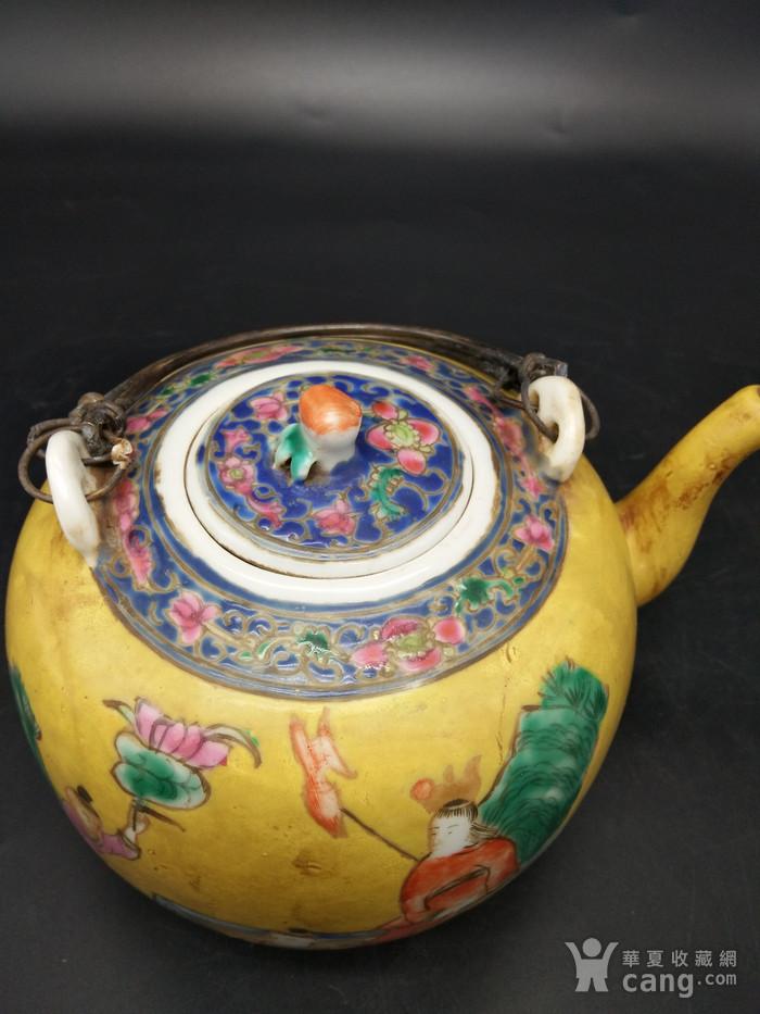 清同治粉彩茶壶图4