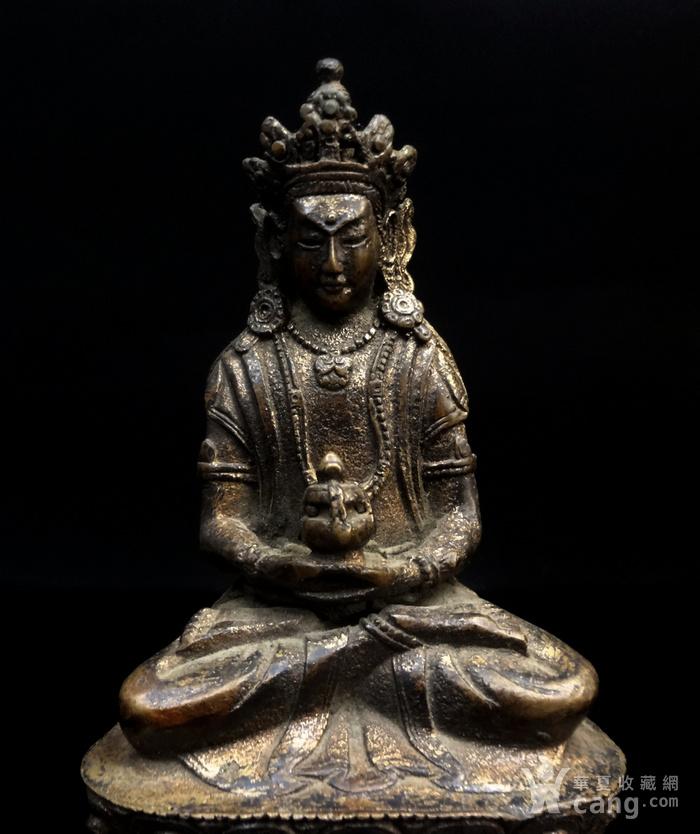 精美鎏金铜造像图4