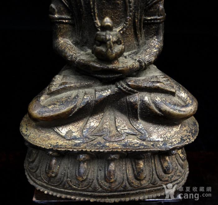 精美鎏金铜造像图5