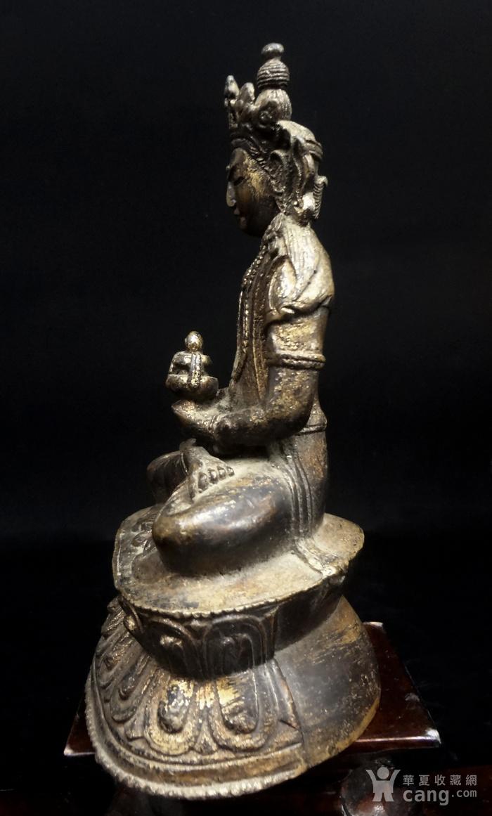 精美鎏金铜造像图2
