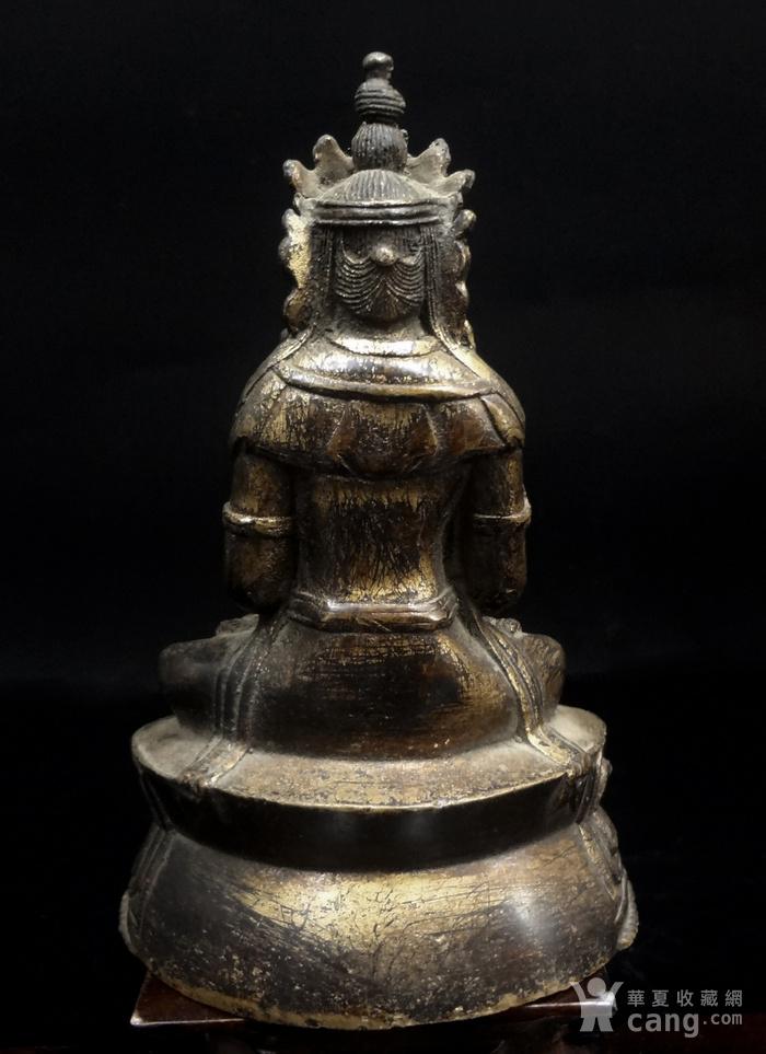 精美鎏金铜造像图3