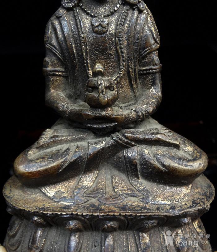 精美鎏金铜造像图6
