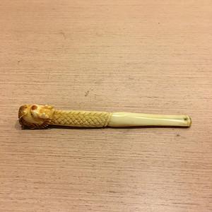 清民雕龙头自然材质精品老烟嘴