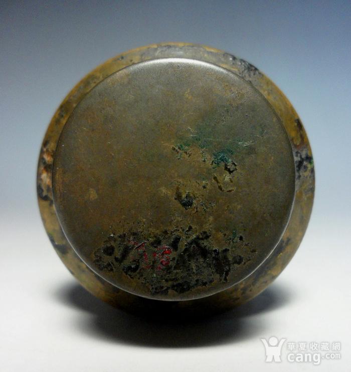 民国老铜墨盒!特色收藏!N图11