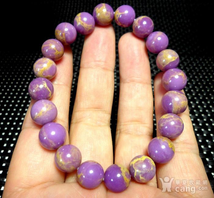 美国紫云母宝石10MM圆珠手串!图4