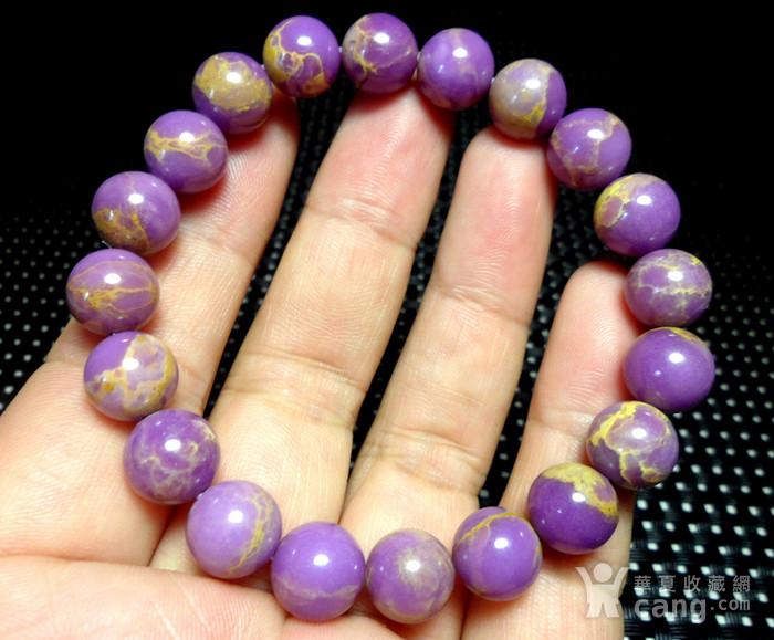 美国紫云母宝石10MM圆珠手串!图5
