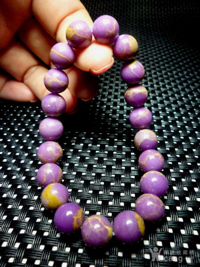 美国紫云母宝石10MM圆珠手串!图9