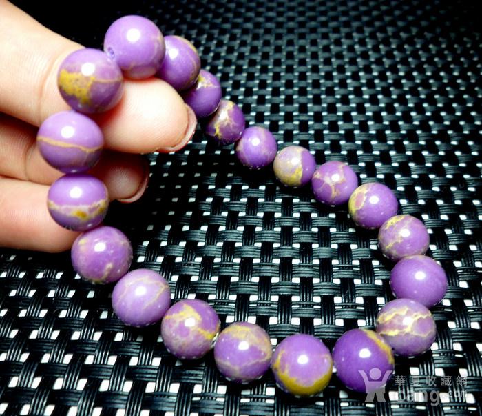 美国紫云母宝石10MM圆珠手串!图10