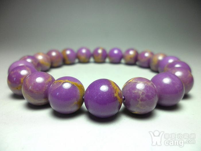 美国紫云母宝石10MM圆珠手串!图11
