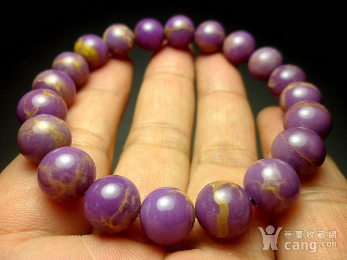 美国紫云母宝石10MM圆珠手串!图3