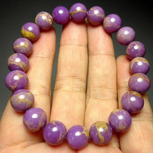 美国紫云母宝石10MM圆珠手串!