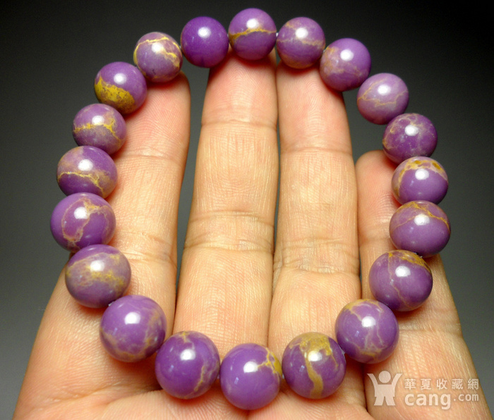 美国紫云母宝石10MM圆珠手串!图1
