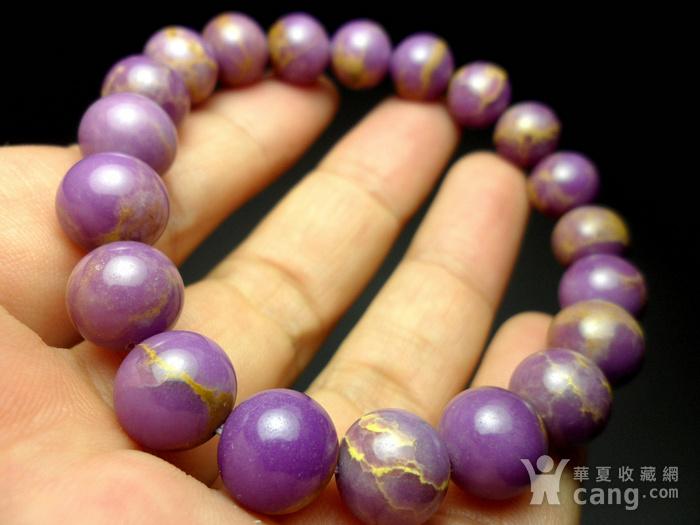 美国紫云母宝石10MM圆珠手串!图8