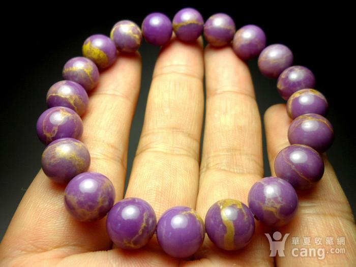 美国紫云母宝石10MM圆珠手串!图2