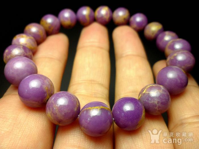 美国紫云母宝石10MM圆珠手串!图6