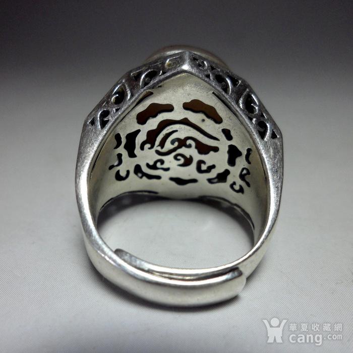 925银镶嵌辟邪大戒指!图8
