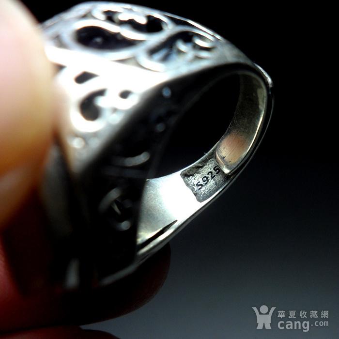 925银镶嵌辟邪大戒指!图10