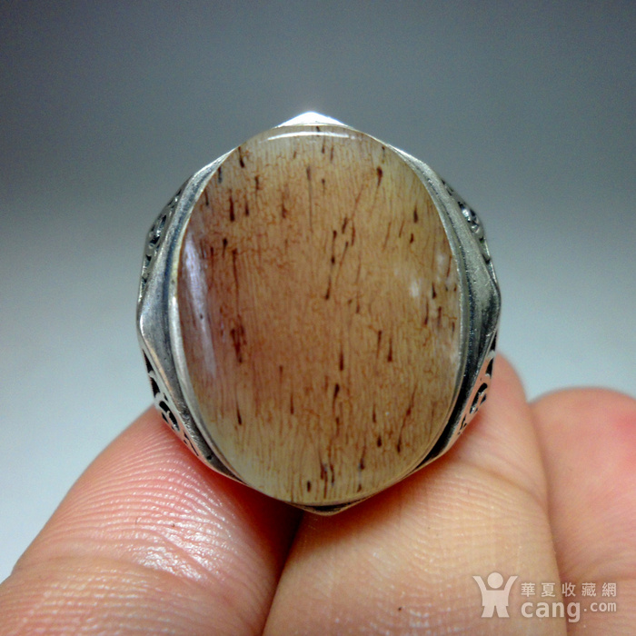 925银镶嵌辟邪大戒指!图3
