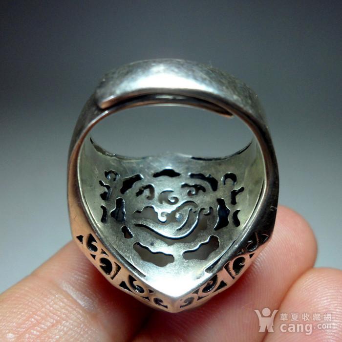 925银镶嵌辟邪大戒指!图9