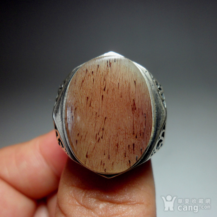 925银镶嵌辟邪大戒指!图2