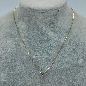 1.6克镶水晶吊坠项链
