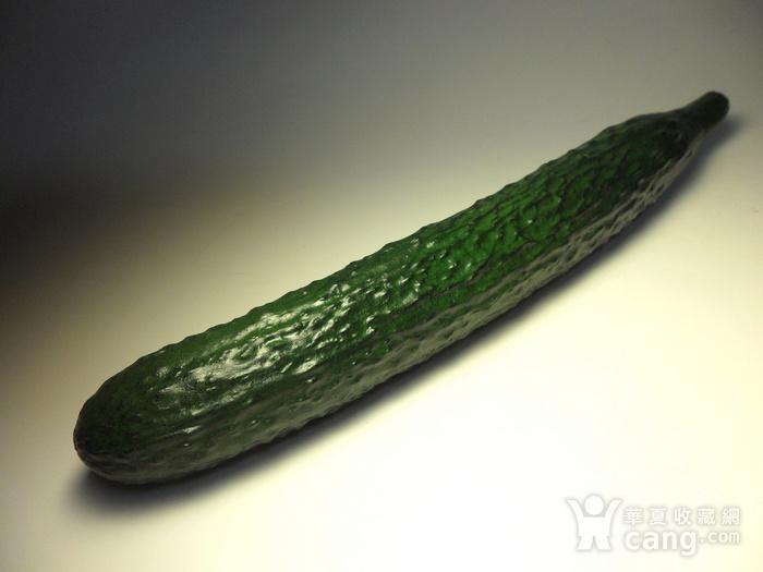 精品寿山石精雕黄瓜摆件!图7