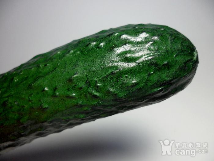 精品寿山石精雕黄瓜摆件!图11