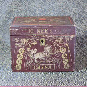 晚清福建描金漆器茶叶盒