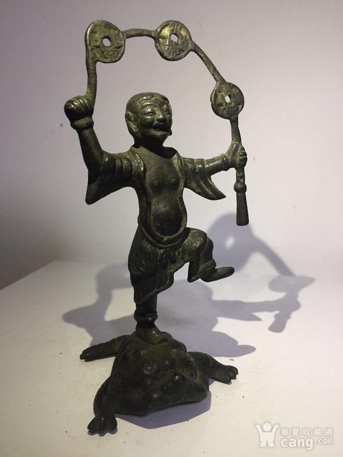 清代铜雕刘海戏金蟾图2