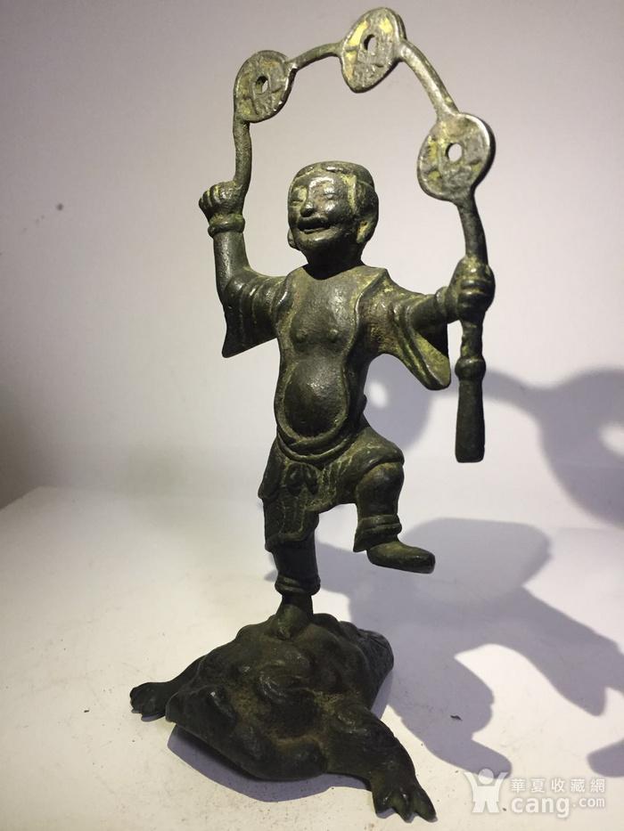 清代铜雕刘海戏金蟾图4
