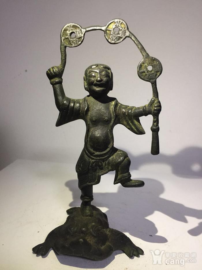 清代铜雕刘海戏金蟾图1