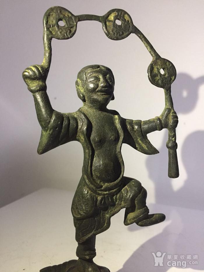清代铜雕刘海戏金蟾图7