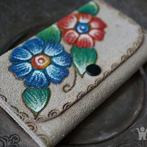 墨西哥手绘真皮钱夹