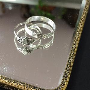 8097欧洲回流银戒指两枚