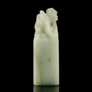 联盟 寿山 老性 结晶 白 高山太极石 吐水鳌龙 方章