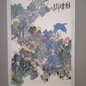 贵州著名画家 鲁风 写意花鸟
