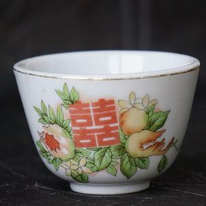 日本制红双喜小茶杯