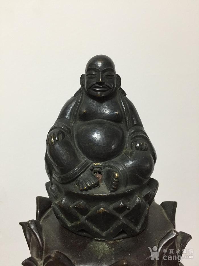 清代铜雕罗汉 带藏文款图1