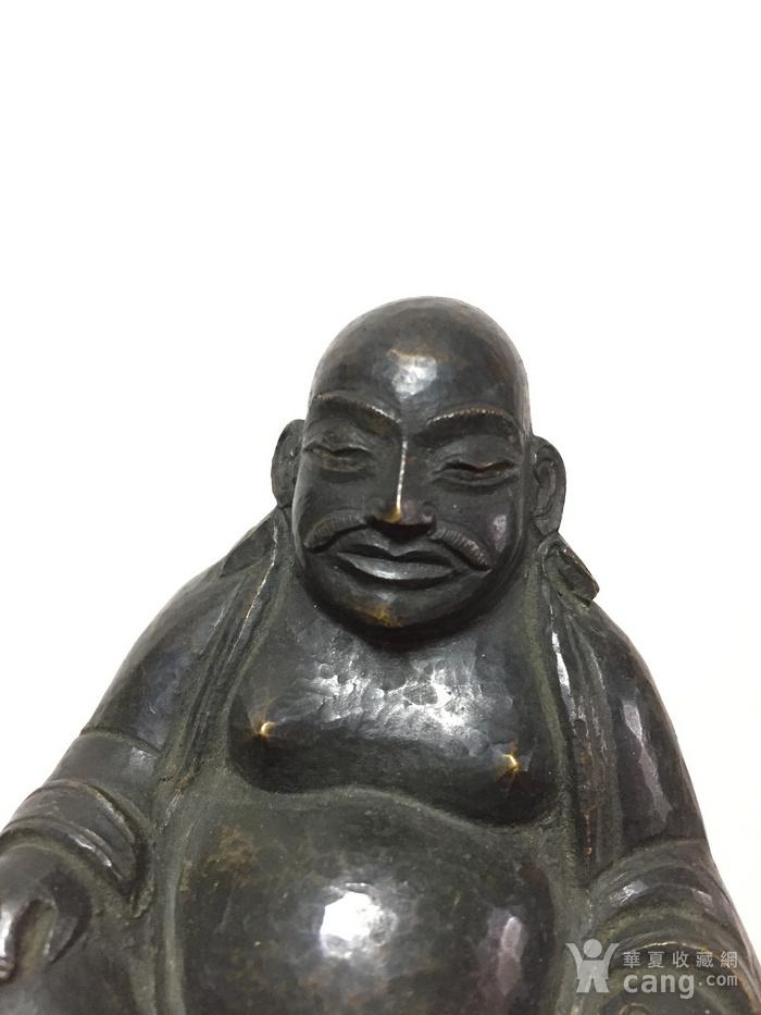 清代铜雕罗汉 带藏文款图5