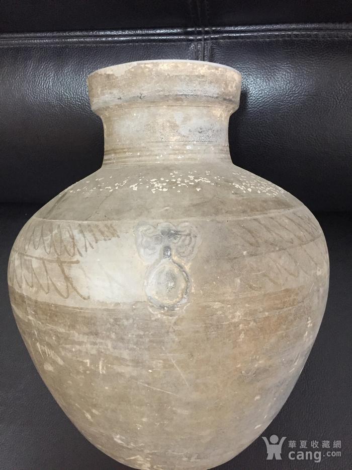汉 代饕餮辅首陶瓶图2