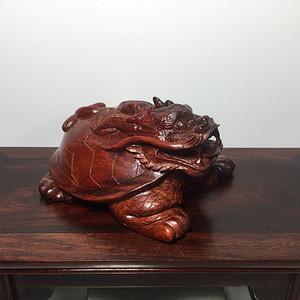 联盟 非洲紫檀龙龟摆件