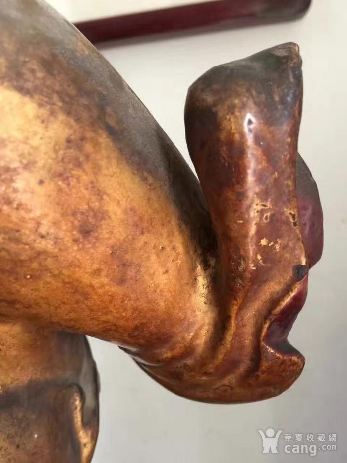 明代65厘米大型漆金关公木雕图6