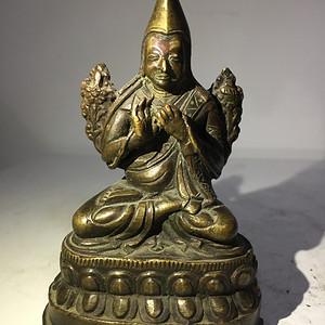 清代铜雕上师像