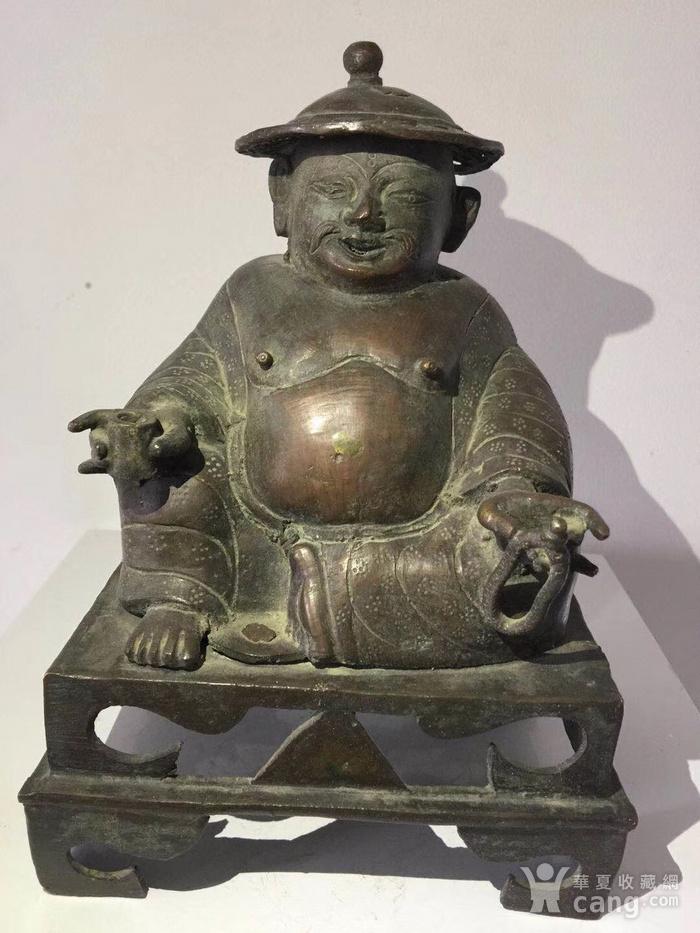 清代铜雕罗汉图1
