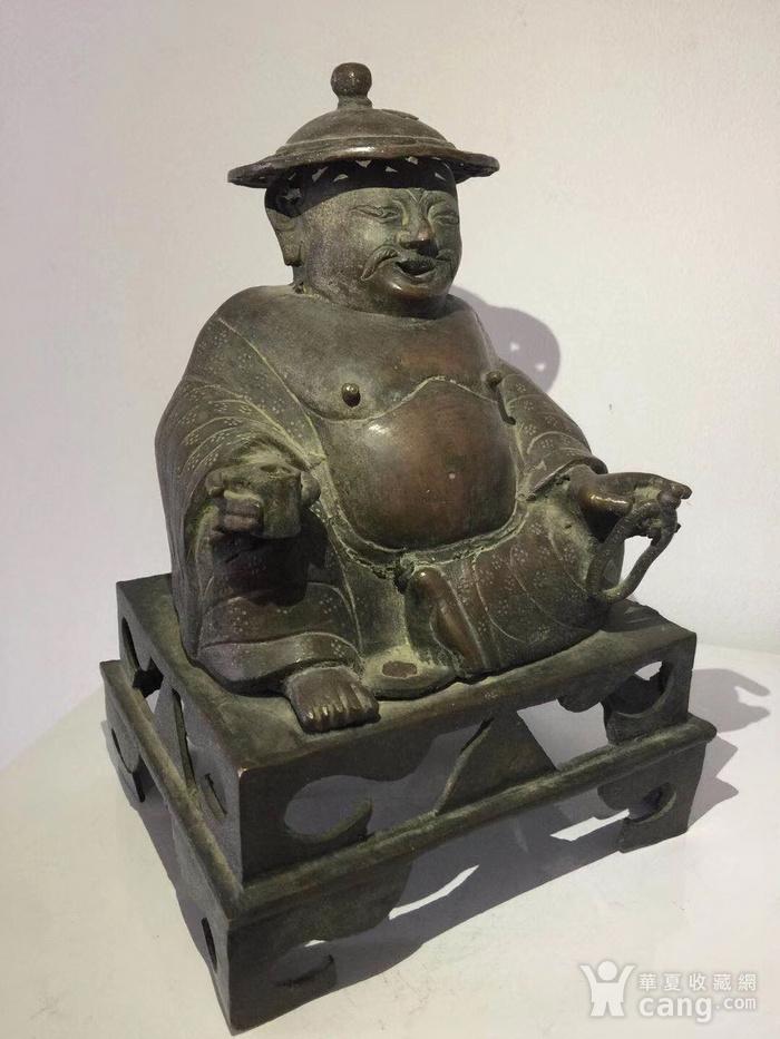 清代铜雕罗汉图3
