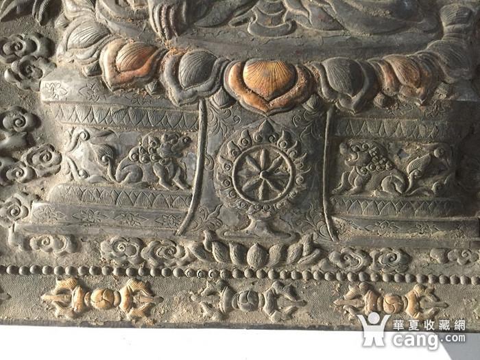 清代乾隆宫廷铜浮雕佛像三尊图4