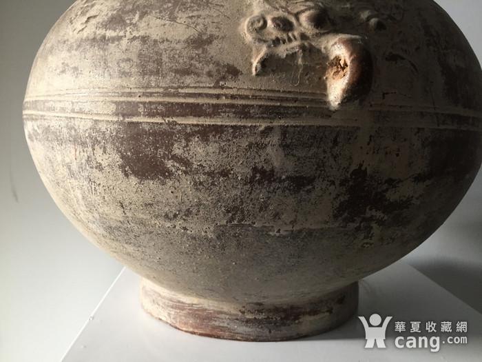 40厘米汉黄釉返银饕餮纹大壶图3