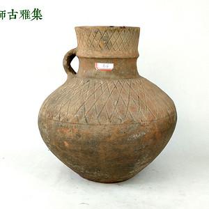 西周 红陶单柄壶